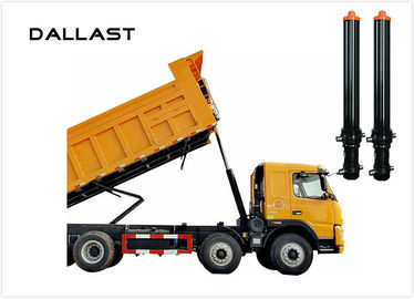 Single Acting Lift Telescopic Hydraulic Cylinders For Dump Truck / Tipper