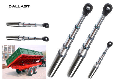 Heavy Duty Dump Trucks Long Stroke Telescopic Hydraulic Cylinder