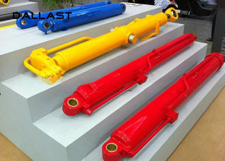 Double Acting Telescopic Single Piston Rod Industrial Hydraulic Cylinder