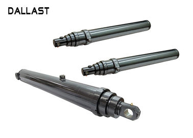 Telescopic Single Acting Telescopic Hydraulic Cylinders Long Stroke Pin Eye Distance 20mm
