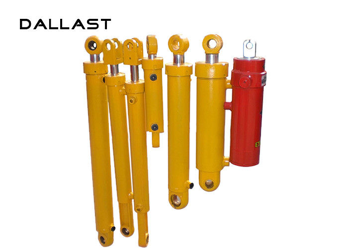 RoHS Double Acting Chromed Hydraulic Oil Cylinder , Custom Hydraulic Cylinders