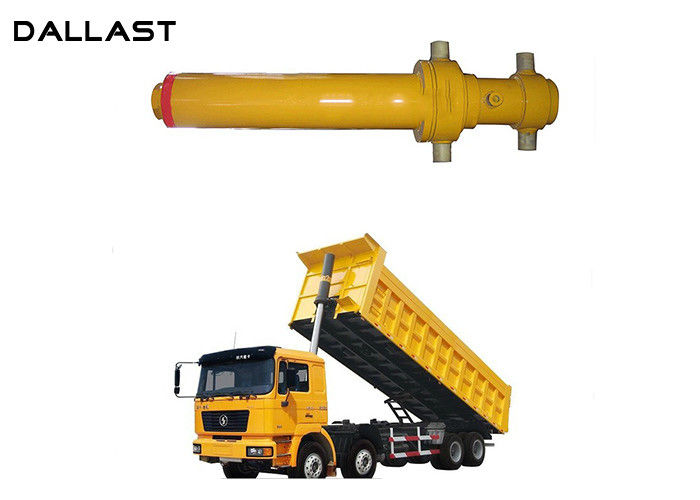 Long Stroke Stages Telescopic Lifting Heavy Dump Hoist Hydraulic Cylinder