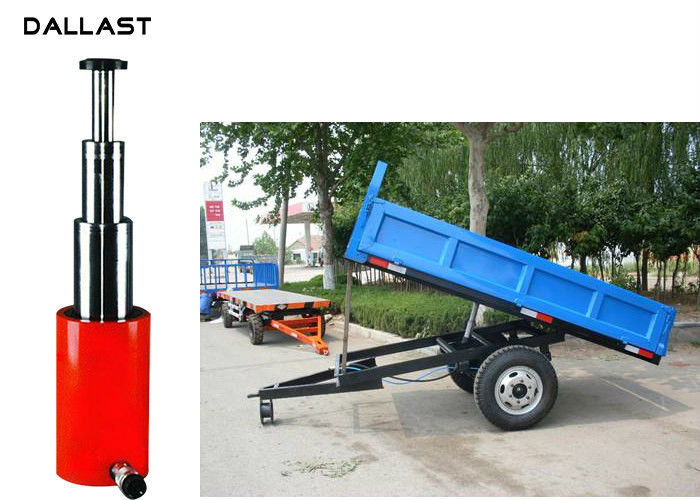 3 Stage Telescopic Hydraulic Oil Cylinder for Agriculture Dump Trailer Tipper