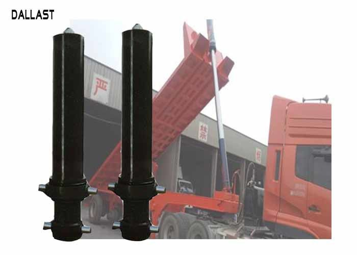 Semi Trailers Telescopic Hydraulic Cylinder Single Acting Long Stroke For Industry Mining