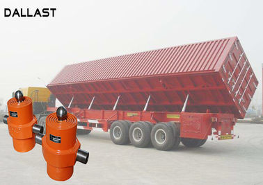 China Single Acting Hydraulic Cylinder , Telescopic Chrome Hydraulic Lift Cylinders for Side Dumper factory