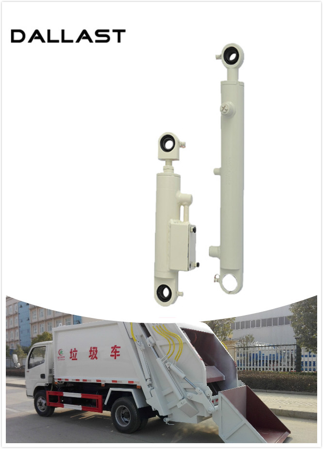 TS16949 Garbage Truck Hydraulic Cylinders Telescopic Sanitation Vehicles Station