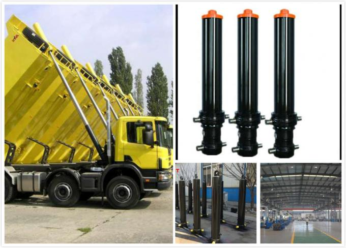 Single Acting 4 / 5 Stage Lifting Tipper Truck Telescopic Hydraulic Cylinder