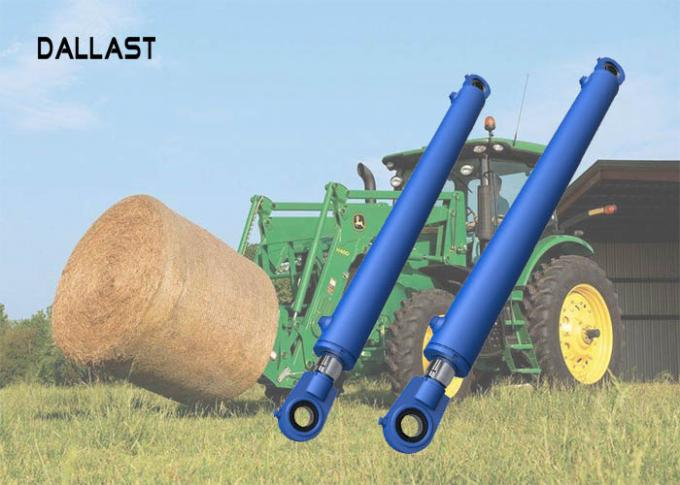 Agricultural Hydraulic Cylinders Medium Stroke With Steel Piston For Harvester
