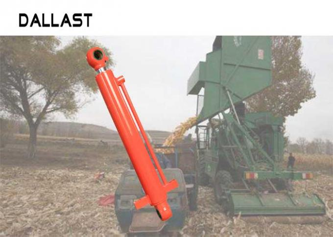 Painted Chrome Double Acting Hydraulic Ram For Agricultural Harvester