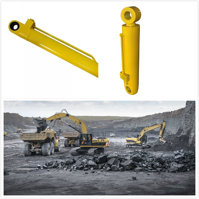 Telescopic Hydraulic Cylinder Double Earring Mine Machinery Lift