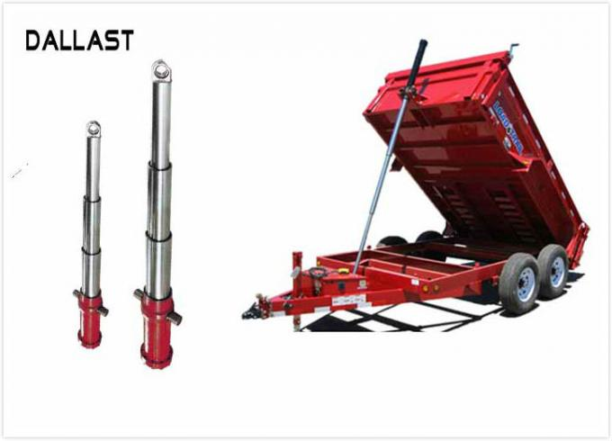 Multistage Hydraulic Telescopic Cylinders For Lifting Table For Dump Truck