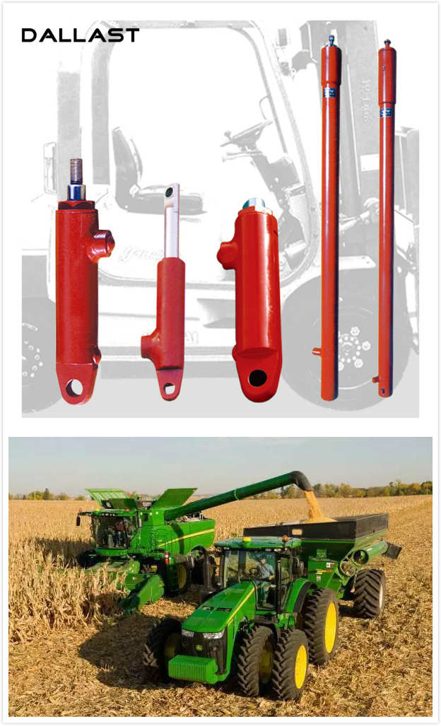 Harvester Agricultural Hydraulic Cylinders Double Acting Combine