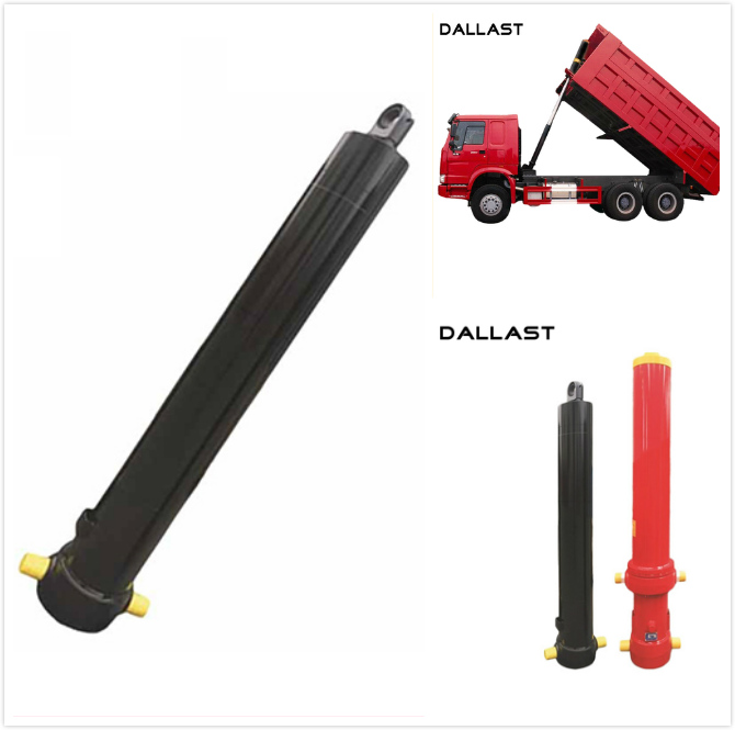 One Acting Telescopic Hydraulic Cylinder Agricultural Farm Truck Chrome
