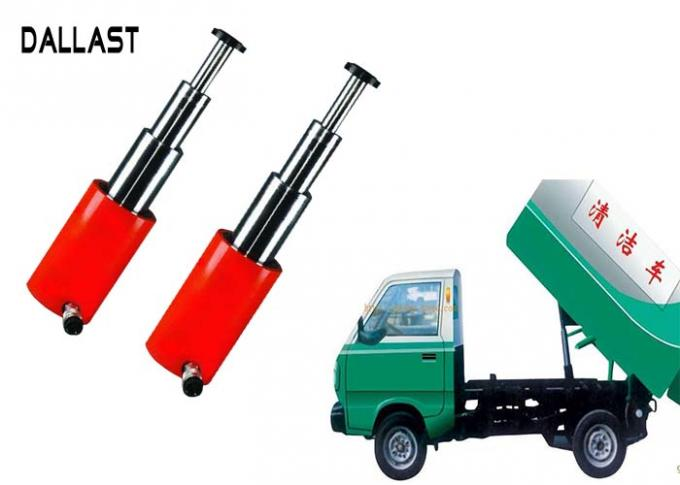 Garbage Truck Hydraulic RAM Single Acting Telescopic  Cylinder