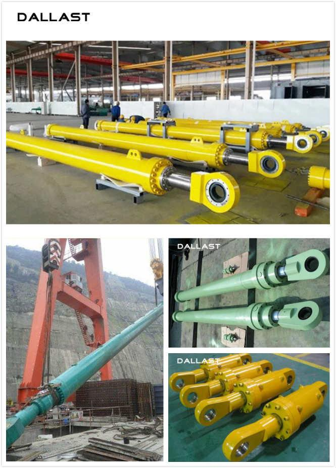 Dam Gates Hydraulic Hoist Cylinder Double Earring High Pressure Long Stroke