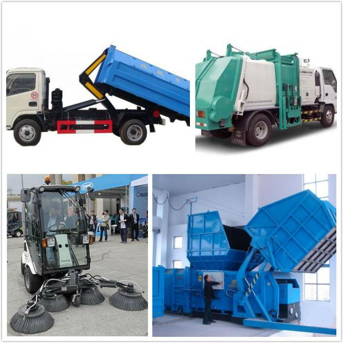 Sanitation Vehicle Garbage Truck Hydraulic Cylinders Double Earring Road Sweeper