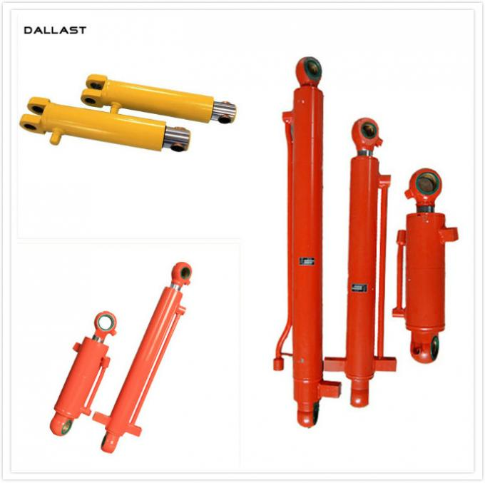 Double Piston Hydraulic Cylinder for Heavy Duty Engineering Equipment / Machinery