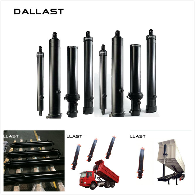 Sleeve Multistage Hydraulic Cylinder Long Stroke Single Acting Under Body