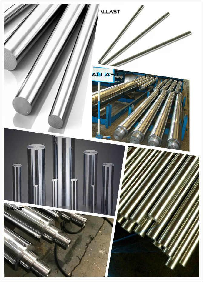 Seamless Type Tube Chrome Plated Rod Hydraulic System 0.15/1000mm Roughness