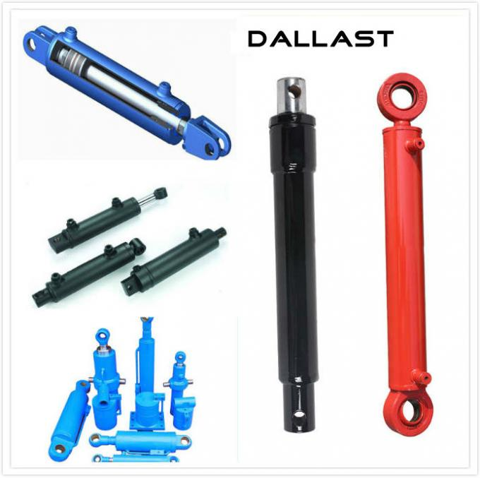 Double Acting Chromed Hydraulic Cylinder for Agricultural Truck / Dump Trailer