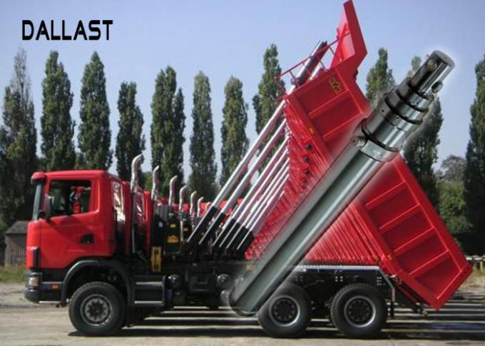 Single Acting Telescopic multi stage telescopic hydraulic cylinder for Garbage Truck