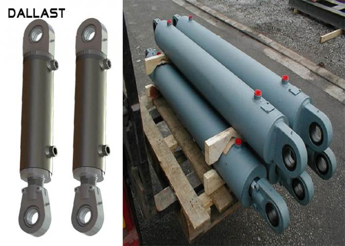 Double Acting Welded Dump Trailer Hydraulic Cylinder Medium Pressure HRC 45-55 Hardness