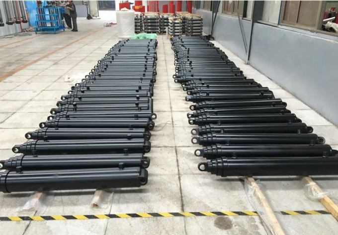 Custom Hyva Front End Loader Single Acting Hydraulic Cylinder Telescopic Type