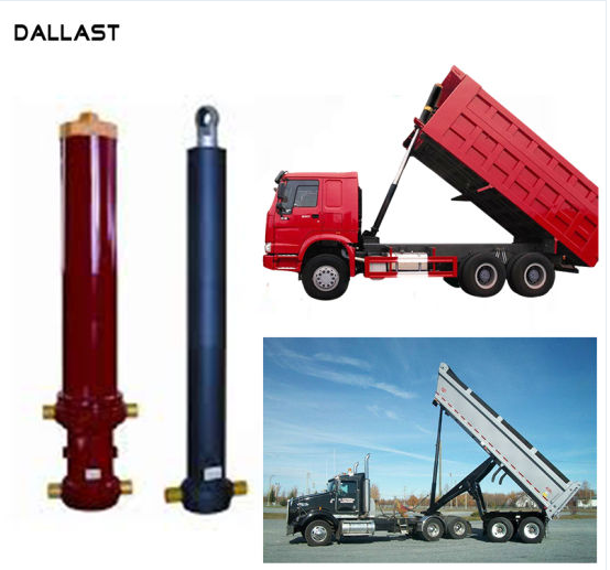 Long Stroke Single Acting Hydraulic Cylinder 3 4 5 Stage Lifting 13 - 90 Ton Dump Truck Tipper