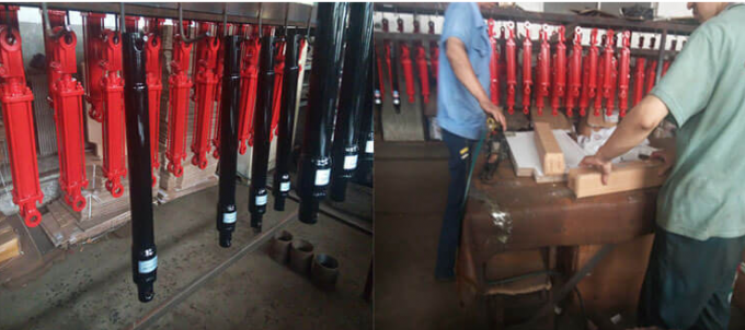 Polished Chrome Piston Rod Telescopic Hydraulic Cylinder Tempered Tube CE Approval