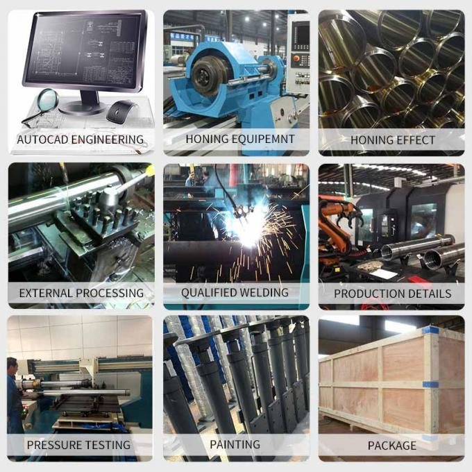 Support Leg hydraulic cylinders Double Acting Sanitation trucks Stage Crane Outrigger Hydraulic Cylinder